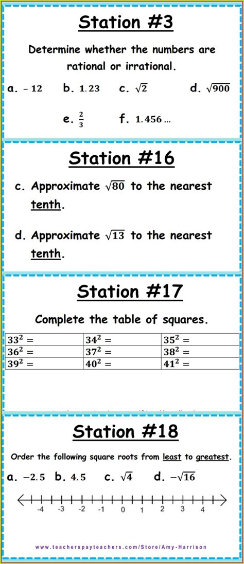classifying rational  irrational numbers worksheet