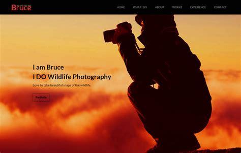 bruce photography  bootstrap template webthemez