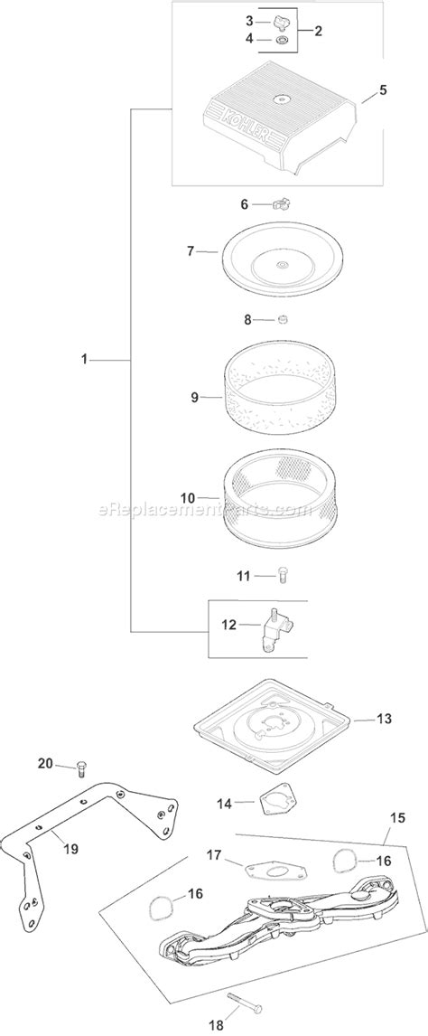 Ch 20 Kohler Command Wiring Diagram by Kohler Ch20 64596 Parts List And Diagram