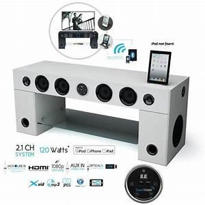 soundvision soundstand100 meuble tv hifi bluetooth With meuble tv enceinte integre leclerc
