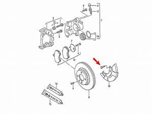 Passat B7 Genuine Vw Brake Disc Cover Plate Dust Shield