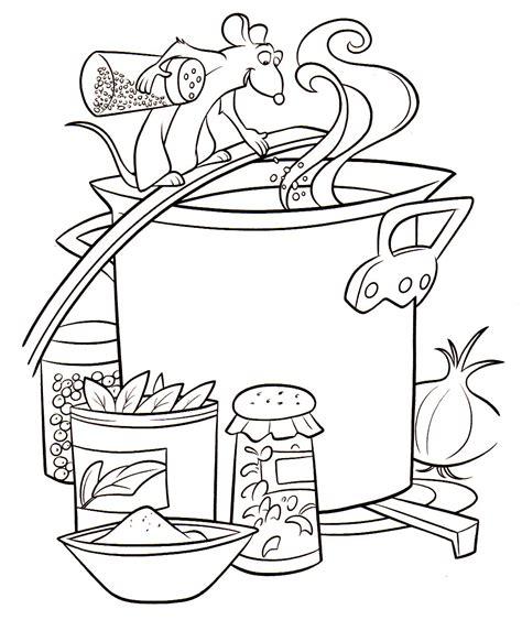 coloriage de cuisine coloriage a imprimer ratatouille remy cuisine gratuit et