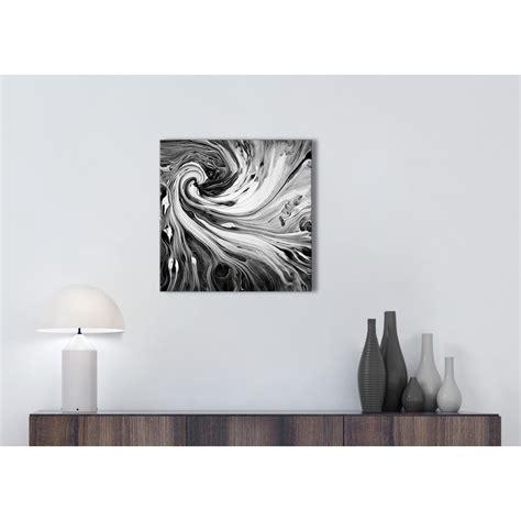 black white grey swirls modern abstract canvas wall