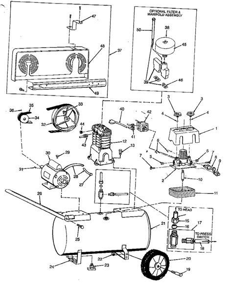 speedaire ze air compressor parts
