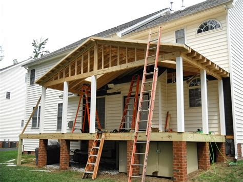 screened back porch build porch roof designs