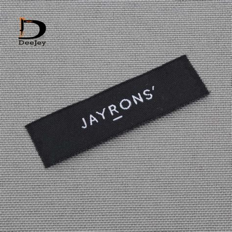 custom brand clothing labels private logo woven labels