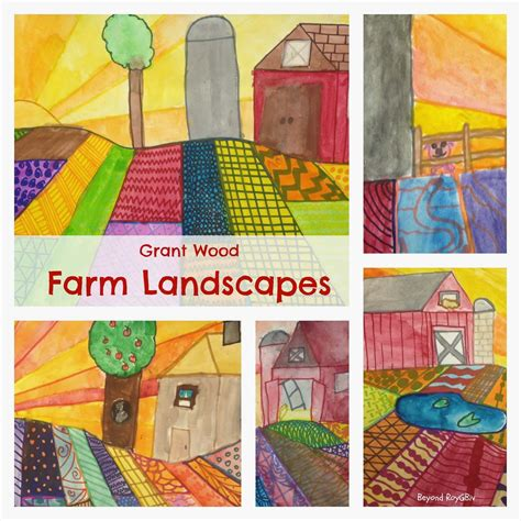 lesson plan   farm  sunrise  roy  biv  grade lessons landscape art