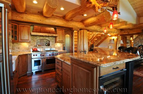 Log Homes Kitchen & Dining Image Gallery