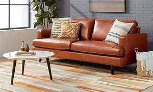 Brown leather sofa set living room rug size tips area for Sectional couch with rug