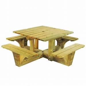 Table De Jardin En Bois Pas Cher : table de pique nique en bois autoclave pas cher table de jardin car interior design ~ Teatrodelosmanantiales.com Idées de Décoration