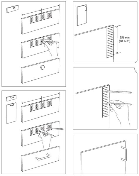 using an ikea fixa drill template to install handles