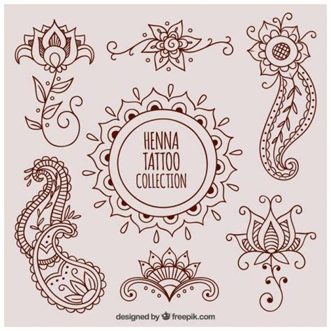 beautiful henna tattoos vector free