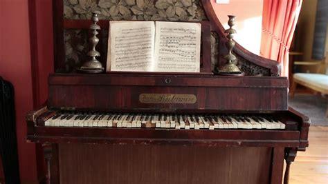 upright piano grand pianoforte stock footage video