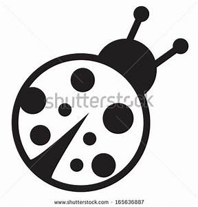 Cute Ladybug Black And White Clipart - Clipart Suggest