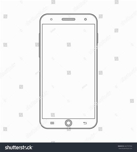 modern smartphone vector vector free smartphone outline icon modern mobile phone stock vector