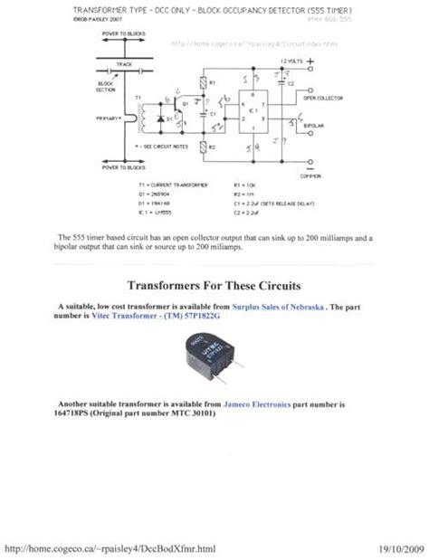 constructing dcc detectors  model railroads