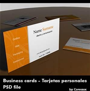 Plantilla para tarjetas de presentación, PSD Frogx Three