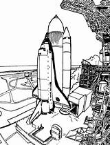 Coloring Space Spaceship Launch Travel Prepare Before Drawing Place Getdrawings sketch template