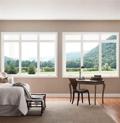 thin frame vinyl picture windows style  milgard