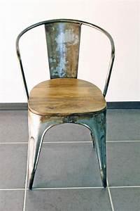 Chaise Industrielle Vintage : chaise industrielle vintage vieilli ~ Teatrodelosmanantiales.com Idées de Décoration