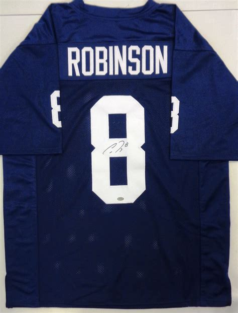 Lot Detail - Allen Robinson Signed Navy Custom College ...