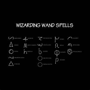Harry Potter Wand Spells Diagram - Harry Potter