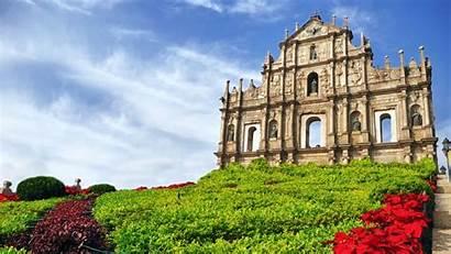 Macau Ruins Cathedral Saint Macao Paul St