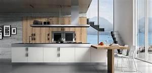 cuisines italiennes aran la cuisine design par culinelle With cuisine contemporaine haut de gamme