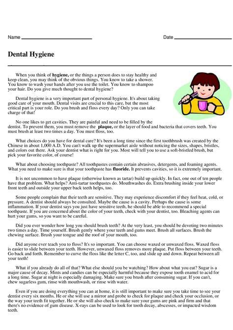 dental hygiene short reader answer key grade