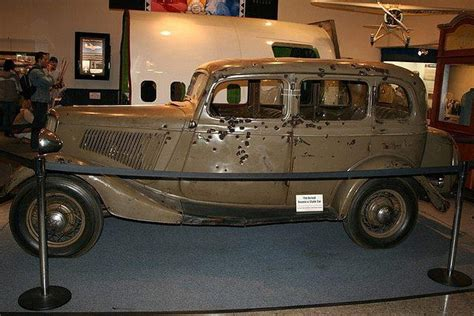 Bonnie And Clyde Death Car On Display At A Museum In