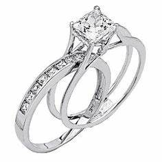 i love how the wedding band fits inside of the engagement With engagement ring fits inside wedding band