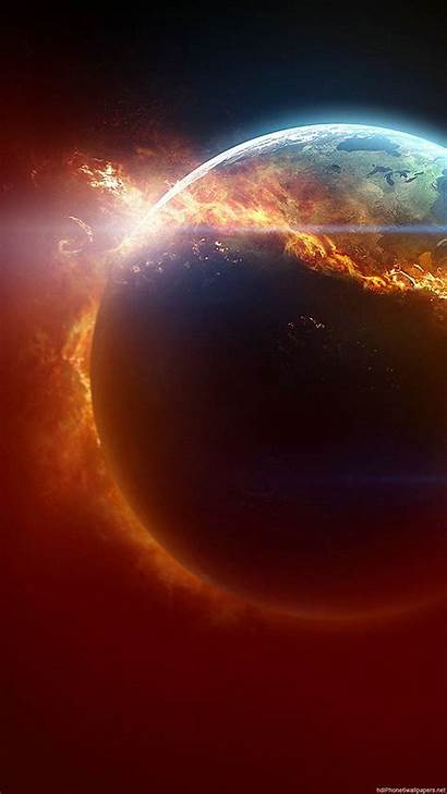 Space Earth Wallpapers Fire Android Backgrounds Iphone