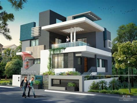 Modern Home Design render by 3dpower Modern bungalow