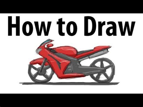 how to draw a motocross bike how to draw a motorcycle sketch it quick youtube