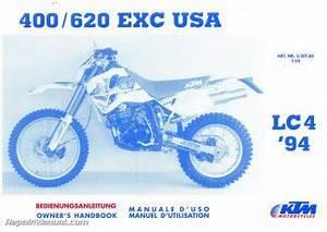 1997 Ktm 250 300 360 Motorcycle Owners Handbook