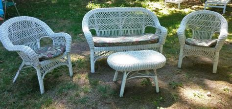vintage 4 wicker patio furniture set