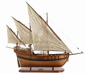 Caravel Model Ship Premier Range Handcrafted Wooden Ready Made Historical Sailing Ship