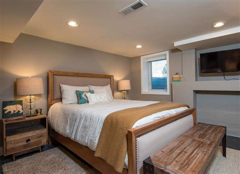 Basement Bedrooms  14 Tips For A Cozy Space  Bob Vila. Refurbishing Kitchen Cabinets. Selecting Kitchen Cabinets. How To Clean Painted Kitchen Cabinet Doors. Two Tone Kitchen Cabinet