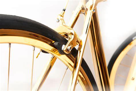 24k Gold British Racing Bike