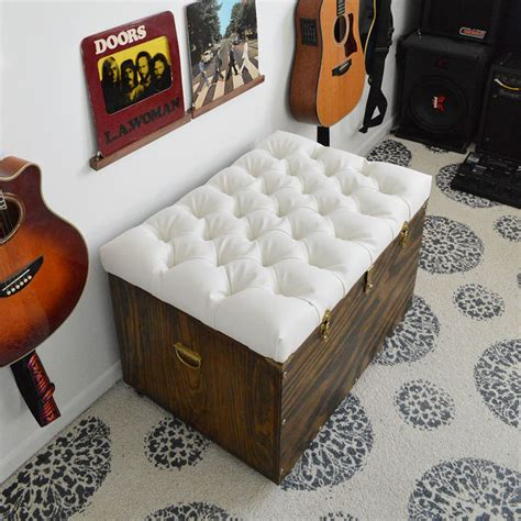 Diy Tufted Ottoman by The Hardest Button To Button A Diy Tufted Storage Ottoman