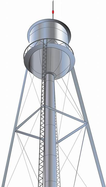 Tower Water Clipart Clip Lookout Transparent Graphics