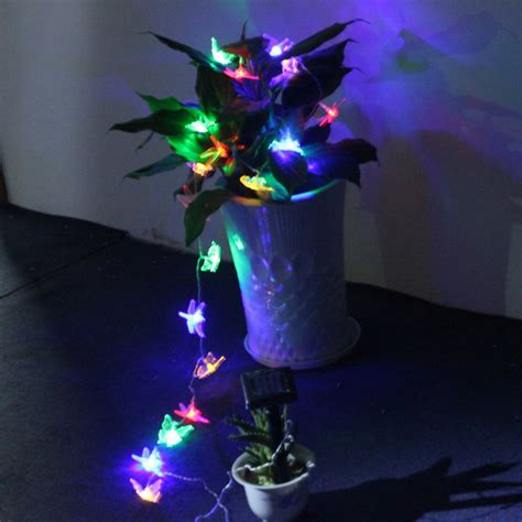 20 led solar butterfly dragonfly string lights