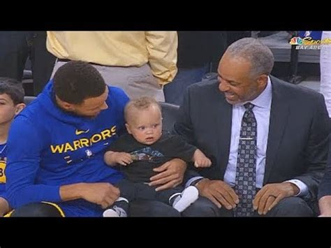 stephen curry brings  son  work    time