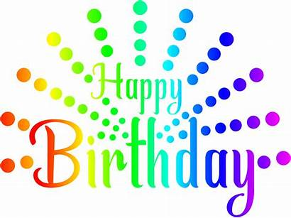 Birthday Happy Transparent Colorful Clipart Aesthetic Hapy
