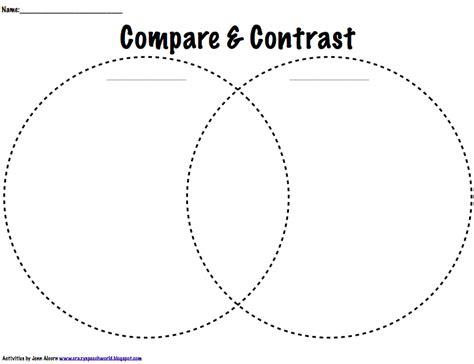 Contrast Clipart Venn Diagram  Pencil And In Color