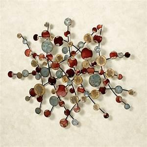 Circular movement abstract metal wall art