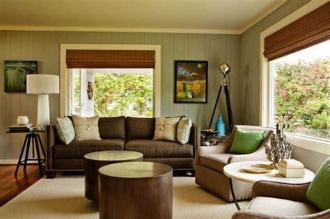 Living Room Ideas Green Brown by Brown And Green Walls Home Decor Ideas In