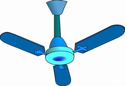 Fan Ceiling Clip Clipart Vector Fans Cliparts