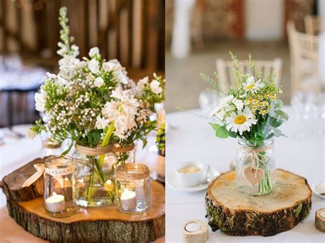 centro tavola centrotavola in legno come decorare la tavola in inverno