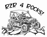 Rzr Coloring Polaris Pages sketch template